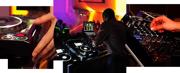 DJ Hans Hautekiet in actie
